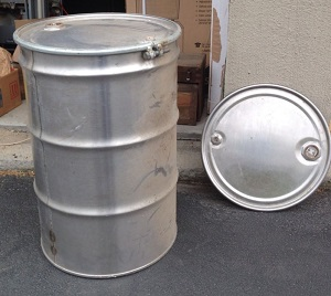 This is an example of a drum that might have a problem when installing your custom Ugly Drum Smoker lid hinge.